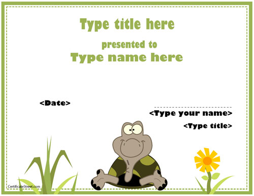 Blank certificates cute animal certificate certificatestreet yelopaper Images