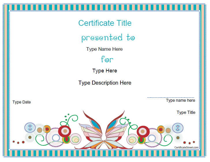 design-certificate-template
