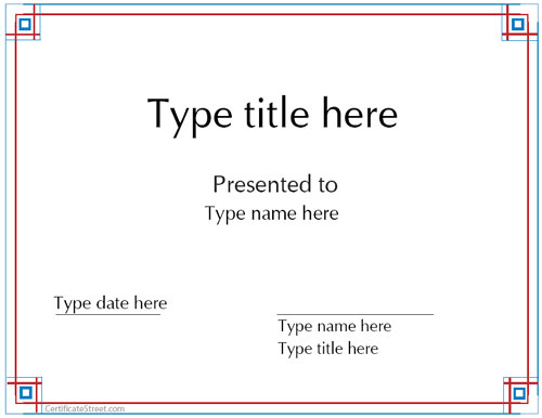 Blank Certificates Template Blank Award Certificate Templates for – Free Blank Certificates
