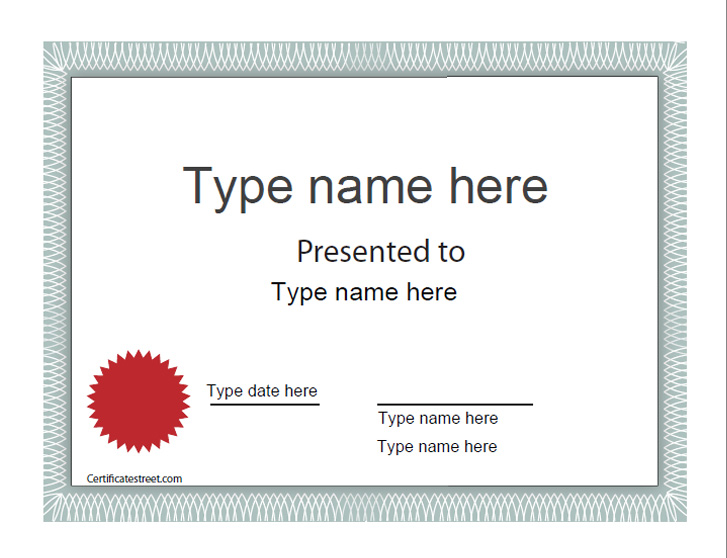 Blank Award Certificate Templates Free