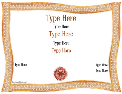 certificate street templates blank - blank certificates elegant certificate with border