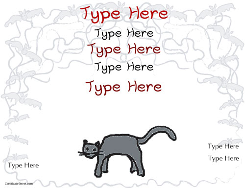 Certificate street free award certificate templates no black cat certificate black cat certificate yelopaper Images