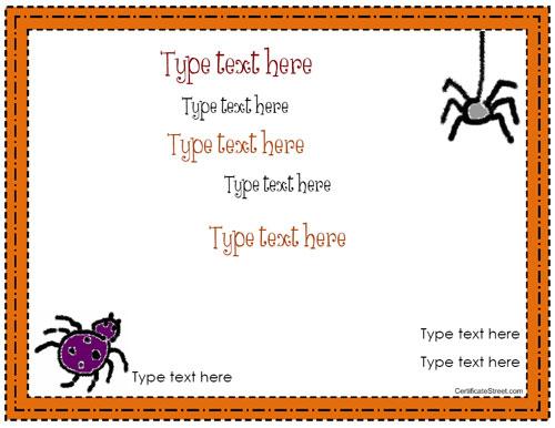 Certificate street free award certificate templates no halloween award halloween award yadclub Image collections