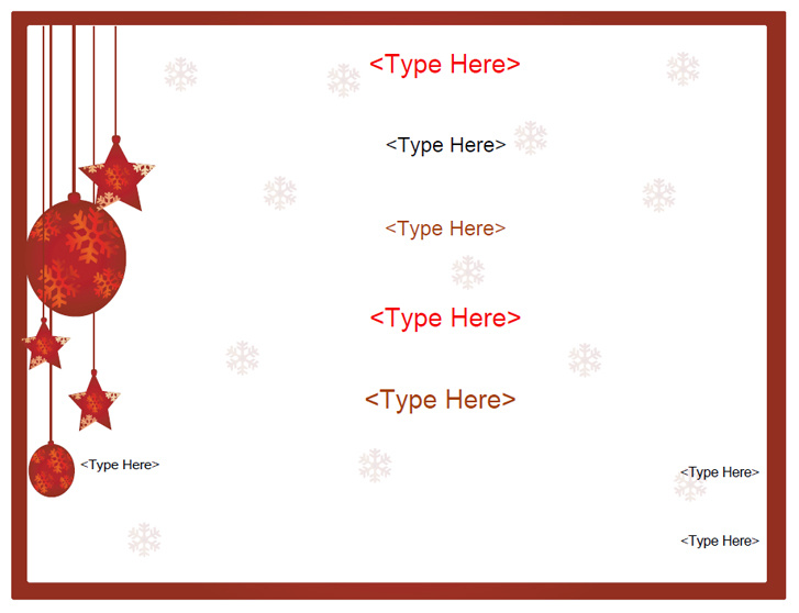 Blank Certificates - Holiday Gift Certificate Template
