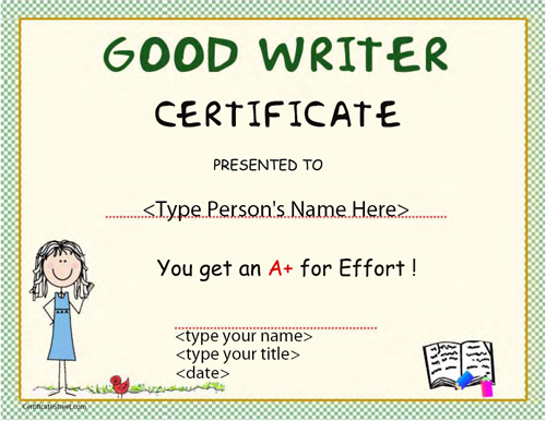 Certificate street free award certificate templates no good writer award certificate yadclub Images