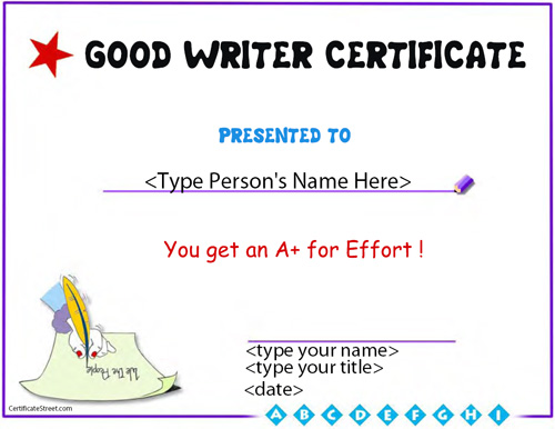 Certificate street free award certificate templates no award template for good writing yadclub Images