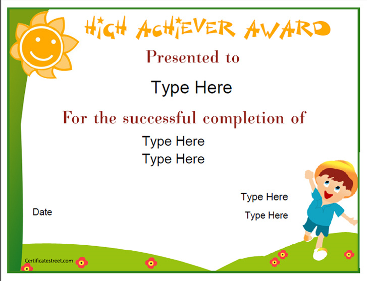 Education certificates award for high achievement certificatestreetcom for Certificatestreet com