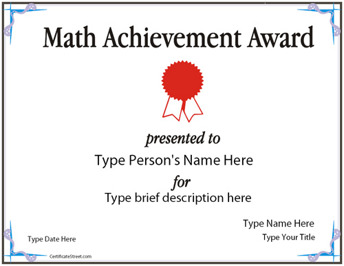 math-achievement-award