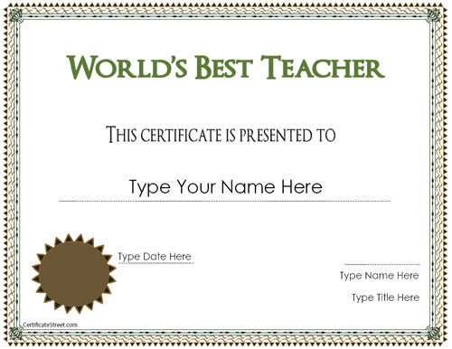 Free Best Teacher Award Coloring Pages