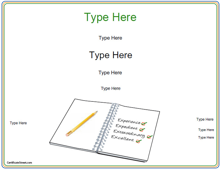 spelling-certificate-template