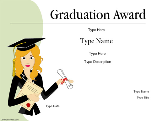Education certificates graduation certificate certificatestreet yadclub Choice Image