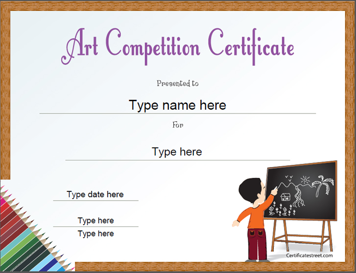 Drawing Competition Certificate Design Acurnamedia