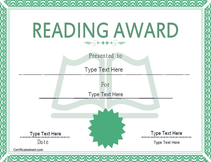 Certificate street free award certificate templates no reading award certificate reading award certificate yadclub Choice Image