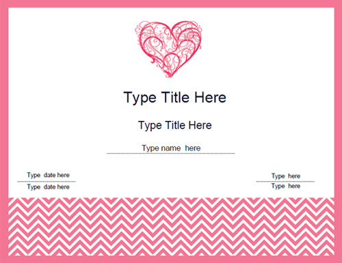 valentines-day-certificate-with-large-pink-boarder