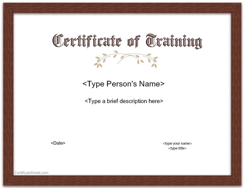 certificate-of-training