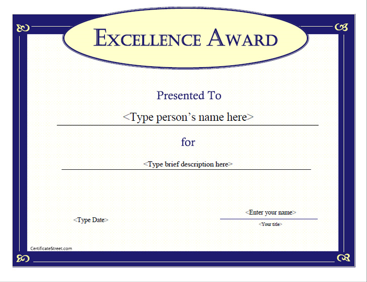award-certificate-for-excellence