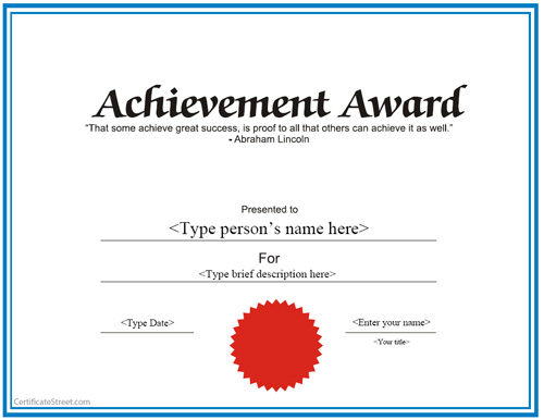 achievement-award-certificate