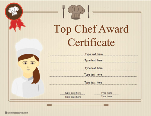 special certificates chef certificate