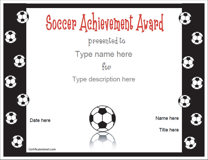 sports certificates soccer award certificatestreet com