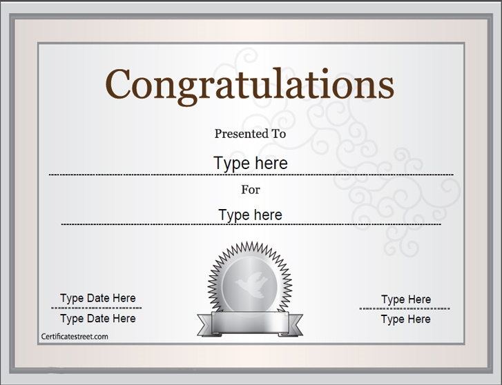 Congratulation template northurthwall special certificates congratulations certificate celebrations congratulation template congratulations certificate word template award certificates yadclub Image collections