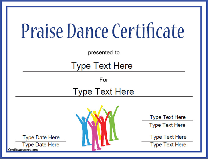 praisedancecertificate