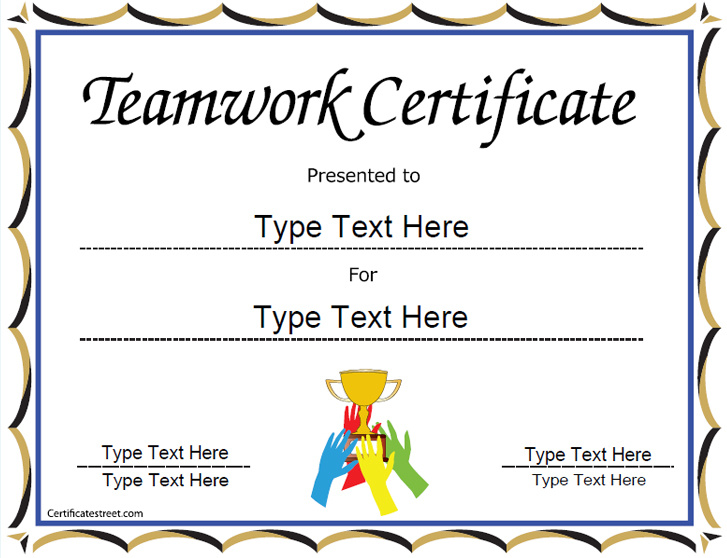 team-work-certificate
