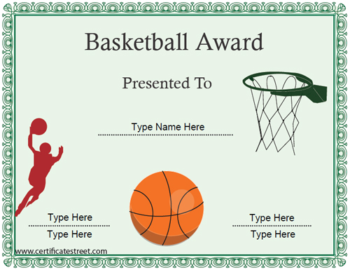 basketball-certificate