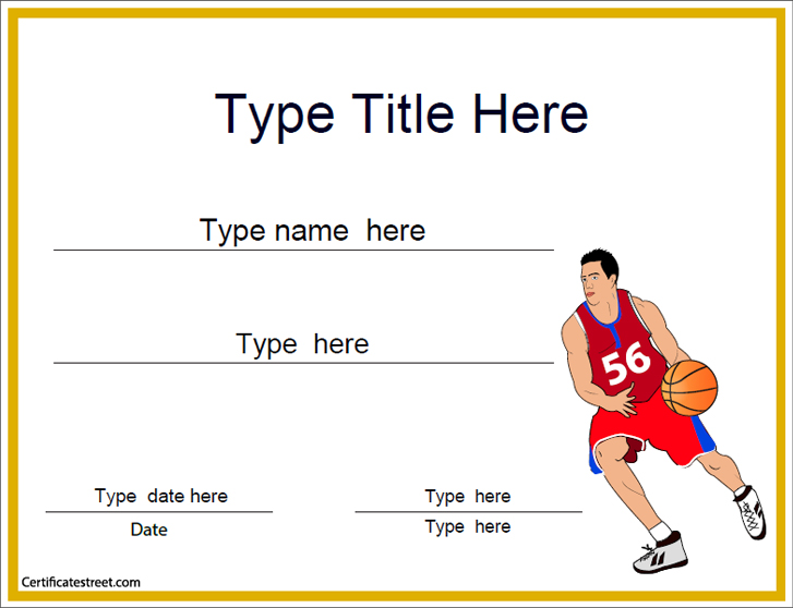 Certificate street free award certificate templates no basketball basketball yelopaper Gallery