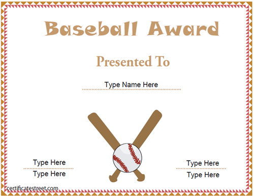 Certificates on funny certificates for softball