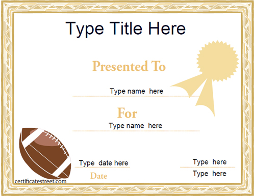Football certificates hatchurbanskript free printable soccer certificate templates football certificates yelopaper