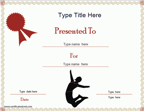 gymnastics certification  Sports Certificates - Gymnastics Certificate Template ...