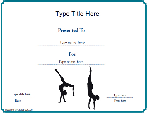gymnastics certification  Certificate Street: Free Award Certificate Templates - No ...