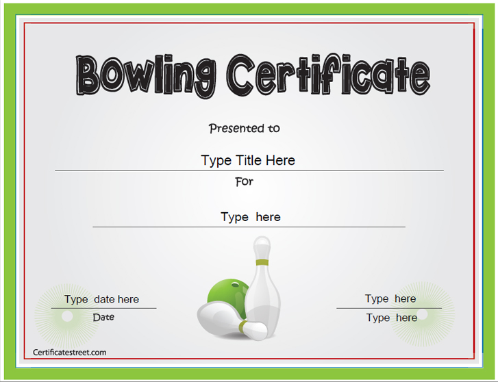 bowling certificates template free - certificate street free award certificate templates no