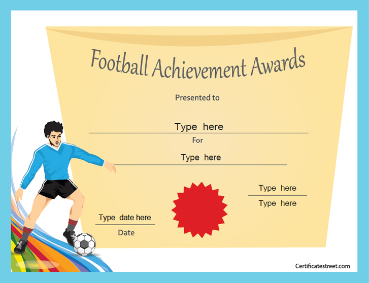 Sports Certificates Football Star Award Certificatestreet
