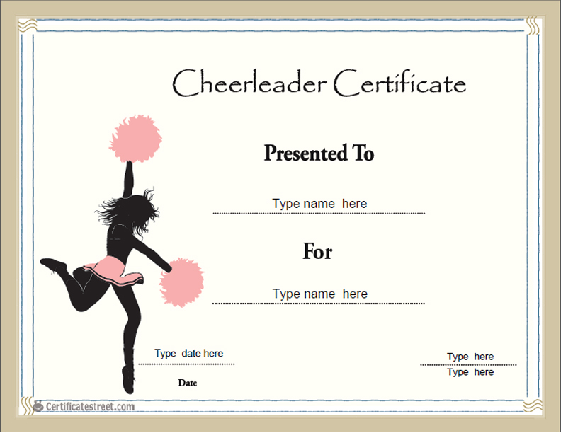 Search results for cheerleading certificate templates calendar 2015 for Cheerleader award certificates